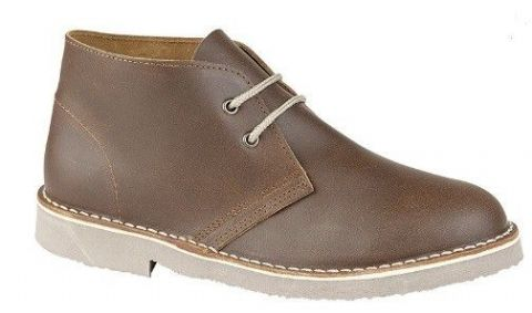 Roamer 2 Eyelet Desert Boot Brown Distressed Leather